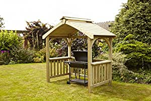 hgg abri pour barbecue en bois salon de jardin d 39 ext rieur de jardin en bois massif. Black Bedroom Furniture Sets. Home Design Ideas