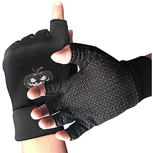 Handbemalte Kürbis-Halloween-Party-Flieger-Fahrradhandschuhe Beleg-Beweis-halber Handschuh