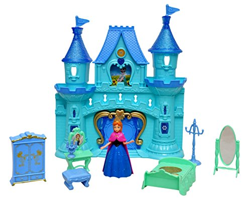 Toyshine Castle Doll House with Accessories - Musical Dollhouse, Blue