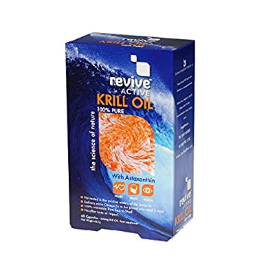 Revive Active Krill Oil 60 capsules - 500mg - 100 % Pure, with Astaxanthin