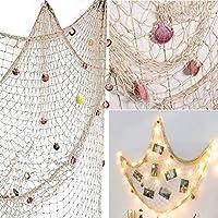 Nautical Decorative Fishing Net Sea Theme Fish Net Decor for Wall Decoration