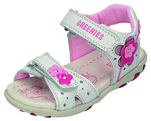 Greenies enfants sandales M. Velcro Sable. Blanc - Offwhite