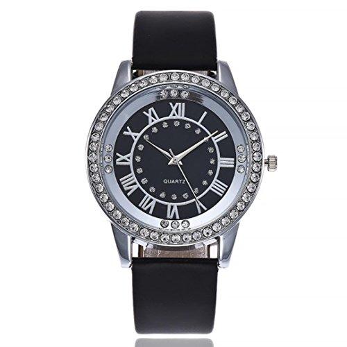 Uhren Dellin V266 Beiläufige Quarz Lederband Newv Bügel Uhr Analoge Armbanduhr der Frauen (E)
