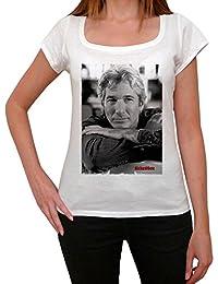 Richard Gere, tee shirt femme, imprimé célébrité,Blanc, t shirt femme,cadeau