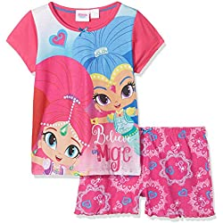 Shimmer & Shine Girl's Believe in Magic' Pyjama Sets, Pink, Years (Size: 4-5)