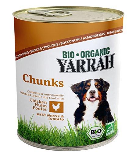 YARRAH Bio Hundefutter Bröckchen Huhn, Brennessel, Tomate 820 g, 6er Pack (6 x 820 g)