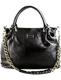 BOVARI sac à main XL chaine - noir - 45x32x13 cm