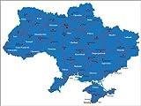 Poster 80 x 60 cm: Ukraine von Editors Choice -