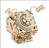 ZLD 3D-Puzzle, Raum Mechanisches Hunde Modell, Hölzerne Musikbox, Holzhandwerk, Holz Rätsel, Handgefertigte Geschenke, Spielzeug, Dekorationen