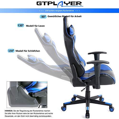 GTPLAYER Gaming Stuhl Racing Stuhl Bild 4*