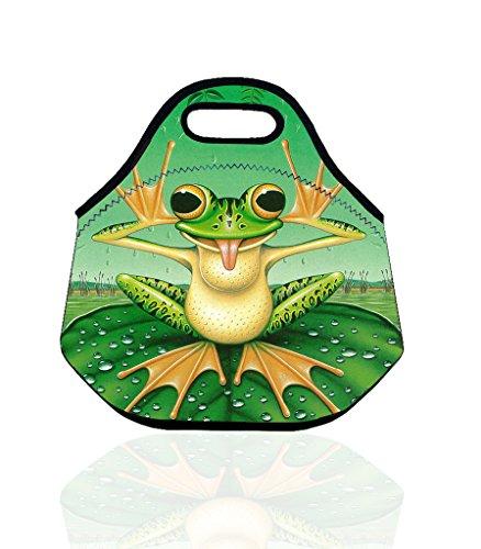 Walmart Taschen (Funny Expression Lovely Frosch Smart Professionell aussehende Lunch Tasche für Picknicks Handtasche für das Büro und Arbeit, die abnehmbarer Schule Tragegriff Isolierter Zip Tote Lunch Bag)