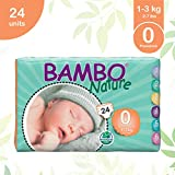 Bambo Nature Premium Baby Diapers - Size 0, 24 Count, for Premature Baby - Super Absorbent and Eco-Friendly
