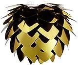 Vita 02016Silvia Pendelleuchte, Kunststoff, schwarz/gold, Größe: Klein