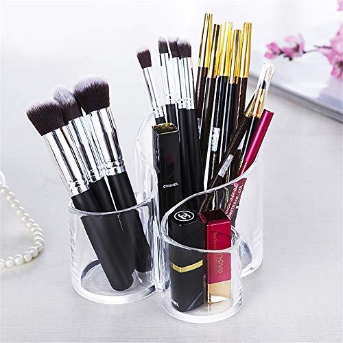 JUZEN Make-up Brush Display Stand, Makeup Brush Storage Box, Beauty Brush Storage Bucket, Acryl-Aufbewahrungs-Bucket, Finishing Tray Rack, Für Dressing Table, Desktop,B
