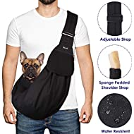 FANCYLEO EU Pet Bag Pet Carrier Hand Free Sling Puppy Cat Carry Bag Travel Carrier with Breathable Mesh Pouch for Outdoor Travel Walking Subway Blue