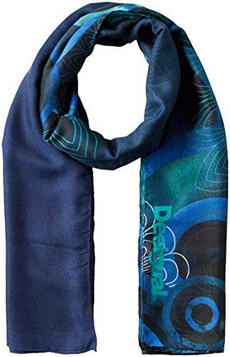 Desigual Damen Schal FOULARD_ENRIEN, Blau (Navy 5000), One Size (Herstellergröße: U)