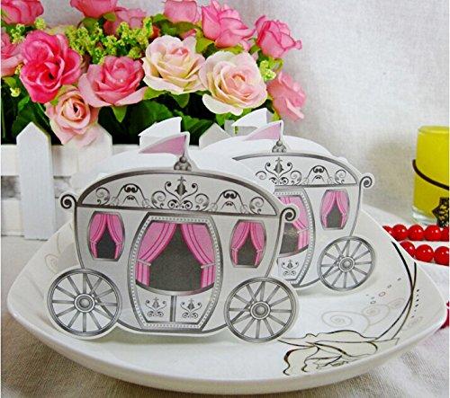 Jzk 50 carrozza principessa scatola portaconfetti scatolina bomboniera segnaposto per matrimonio compleanno bambina battesimo nascita natale pensiero festa bimba