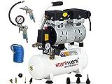 Starkwerk Silent Druckluft Kompressor Flüsterkompressor SW 210/8 Ölfrei SET