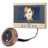 """ZY 4.3""""Telecamera Peephole Viewer per videocitofono Digitale con Schermo TFT PIR Motion Detection Campanello 160 Gradi grandangolare IR Night"""
