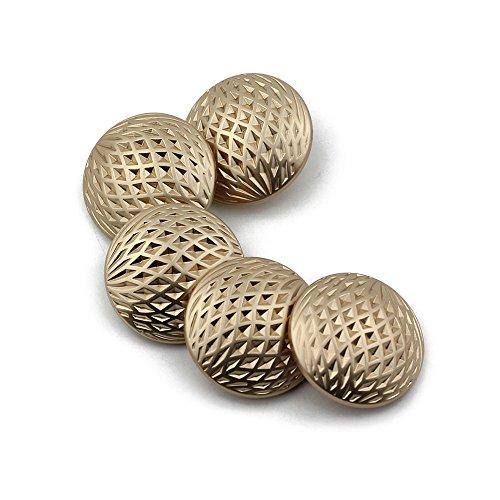 Breasted Blazer (Fashion Metall-Coat Tasten gurthalteband Breasted Blazer Tasten 10Stück, gold, 15 mm)
