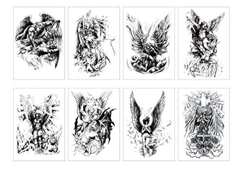 Spestyle 8 teile/paket Mix Angel Wings Tattoo Aufkleber für Frauen Wasserdichte Engel Temporäre Tattoos Körper A - Engel Tattoos Frauen