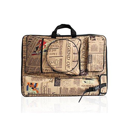 Retro Multifunktional Leinwand Tasche A2Zeichenbrett Bag Wasserdichte Tragbare Art Rucksack...