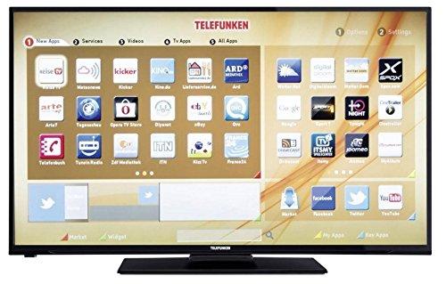 Telefunken LED-TV 110 cm 43 Zoll D43F278A3C EEK A+ DVB-T, DVB-C, DVB-S, Full HD, Smart TV, WLAN rea