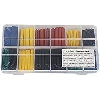 Candora ™ 280pcs 1,0–10,0termorestringenti tubo isolamento protezione ritardante di fiamma antiruggine Sleeving Wrap Kit Set 5Colori 8Taglia