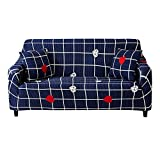 HOTNIU 1 Stück Stretch Sofa Couch Bezüge - Spandex Printed Loveseat Couch Schonbezug - Sessel Sesselbezug/Protector One Free Kissenbezug (3 Sitzer 175-220cm, Gemustert #Kllr)