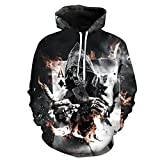 Bushiwo Sweatshirt Drucken Kapuzenjacke Männer 3D-Sweatshirt XL Pullover Roman Men's Hooded Top, L, 2.