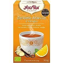 Yogi Tea Infusión de Hierbas Jengibre, Naranja y Vainilla - 17 bolsitas - [pack de 3]