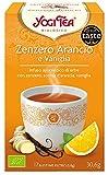 Yogi Tea Infusión de Hierbas Jengibre, Naranja y Vainilla - 17 bolsitas