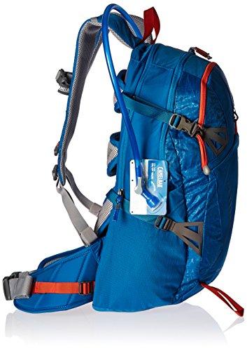 CamelBak Unisex Fourteener 20 Hydration Pack Trinkrucksack, 100 oz Grecian Blue/Pumpkin