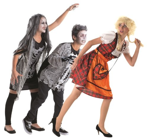 Kostüm Zombie Junge Set mit Schminke (164)