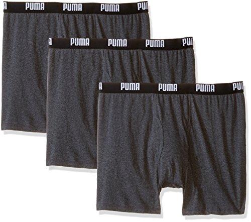 Puma Homme Puma Lot de 3pour homme 100% coton Boxer Brief Boxer gris foncé