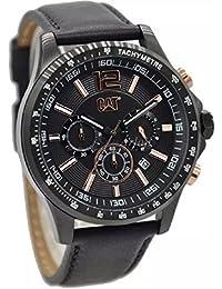 CAT Boston Men's Watch Black/Rose Gold Dial 44 MM Black Leather AD.163.34.139