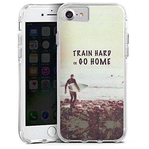 Apple iPhone 6 Bumper Hülle Bumper Case Glitzer Hülle Sport Training Fitness Bumper Case transparent