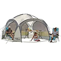 Garden Gear Outdoor Event Dome Shelter Party Tent UV Protection with 4 Removable Mesh Walls, 2 Removable Sun Shade Walls Measures L363.5 x W361 x H235.5cm 21