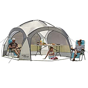 garden gear outdoor event dome shelter party tent uv protection with 4 removeable mesh walls, 2 removeable sun shade walls measures l363.5 x w361 x h235.5cm