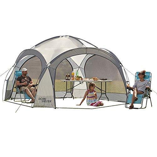 Garden Gear Clifford James Outdoor Event Kuppelzelt, UV Schutz Partyzelt mit Seitenteilen für Strand, Festivals & Camping (Grau)