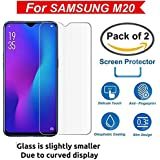 KOKO® Clear Tempered Glass (Pack of 2) Screen Protection Screen Guard for Samsung Galaxy M20 (Transparent - 2 Glass)