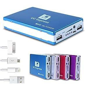 30000 MAh batterie de portable batterie externe power bank chargeur de batterie externe uSB bleu