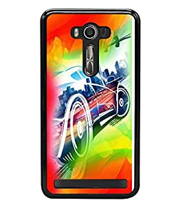 printtech Superfast car Back Case Cover for Asus Zenfone 2 Laser ZE550KL ,Asus Zenfone 2 Laser ZE550KL (5.5 Inches)