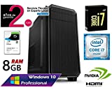 ORDENADOR SOBREMESA INTEL CORE i7 up 3.46Ghz x 4 Cores | GRÁFICA Nvidia GeForce 710 2GB | 8GB RAM | Disco Duro 1TB SATA3 Seagate Barracuda | WINDOWS 10 PRO 64BIT | RW DVD / CD