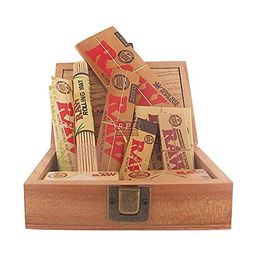Raw Zigarettenpapier, Geschenkbox, Raw Box mit Rohpapier und Zubehör (Raw Papers Bundle Rolling)