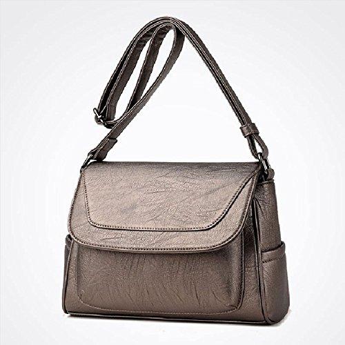 CJshop Der Tasche Frauen Einzeltasche, einfache Schultertasche, Fashion Bag, Koreanisch Casual, im mittleren Alter Dame Cross Bag, Bronze Farbe - Im Alter Von Bronze Farbe
