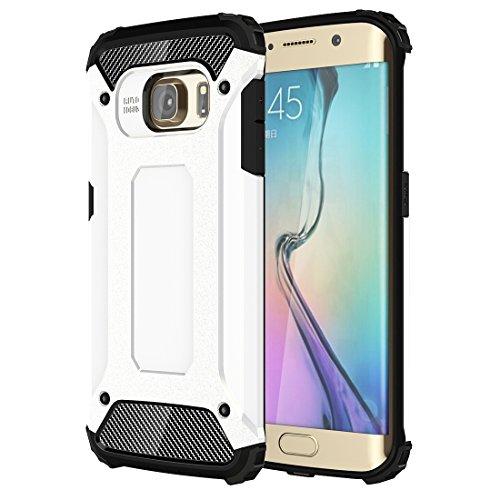 iPhone 5 / 5S / SE / 6 / 6S / 7 - iPhone 7 Case Housse Noir 2 Couche PC + Combinaison de TPU - thinkmobile Blanc