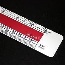 TAMANO DE BOLSILLO 15cm Escalímetro Profesional Plástico Escala 1:1 1:5 1:20 1:50 1:100 1:200 1:1250 1:2500 Regla Arquitectura Ingeniería Dibujo Técnico Diseño Color Rojo