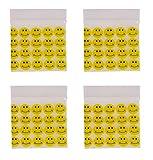 Imprimé smiley jaune sac Ziploc Sacs Baggies Grip Joint d'étanchéité 40mm x 40mm