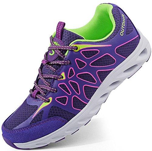 SEECEE Damen Outdoorschuhe Turnschuhe Sneaker Für Frauen Ultraleicht Laufschuhe Atmungsaktiv Freizeitschuhe Wanderschuhe Fitnessschuhe Lila 39 EU